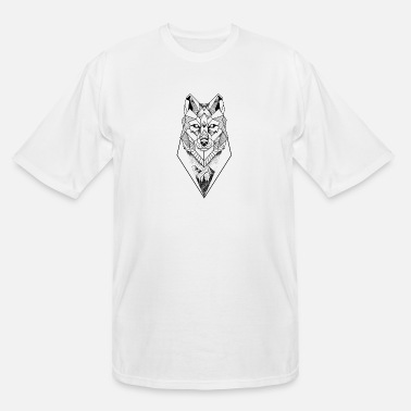 Tattoo Lover Geometric wolf - Men's Tall T-Shirt