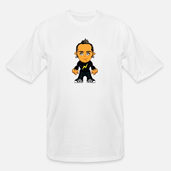 Gang T-Shirts - Little Gangster Comic Figure Crime - Men's Tall T-Shirt white