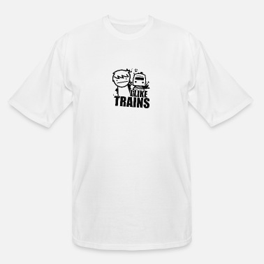 Trains I LIKE TRAINS - Men's Tall T-Shirt