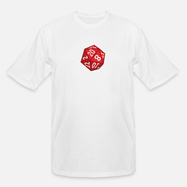 Dice 20 Sided Dice - Men's Tall T-Shirt