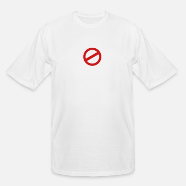Prohibited prohibition sign - Men's Tall T-Shirt