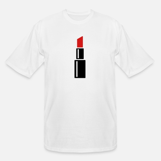 Emancipation T-Shirts - red lipstick cosmetic beautiful woman - Men's Tall T-Shirt white