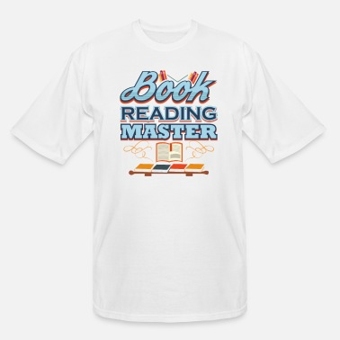 Book Book Lover Book Reading Master - Men's Tall T-Shirt