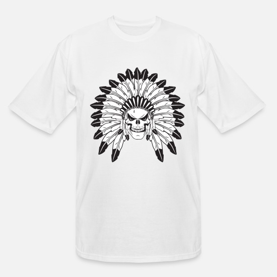 big and tall t-shirt Aztec warrior Indian skull tee shirt tall shirt men/'s