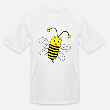 Yellow Funny little bee - Men's Tall T-Shirt
