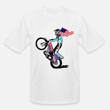 Speedway Speedway driver with USA flag - Men's Tall T-Shirt