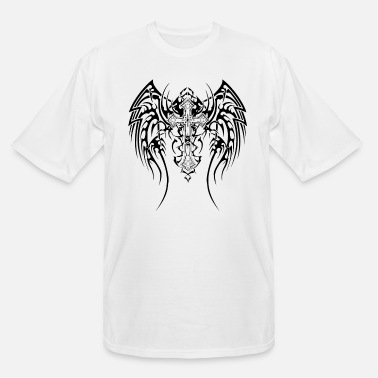 Cool Cool Goth cross with wings - Men's Tall T-Shirt
