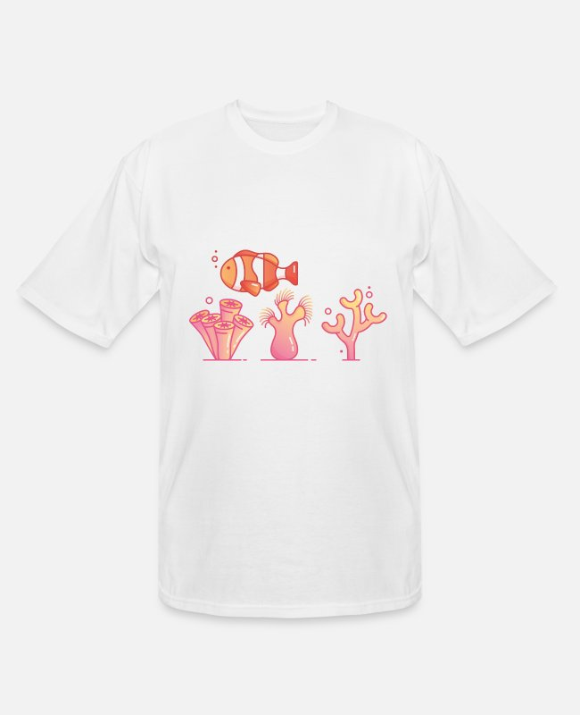 Water T-Shirts - Korallen Nemo - Men's Tall T-Shirt white