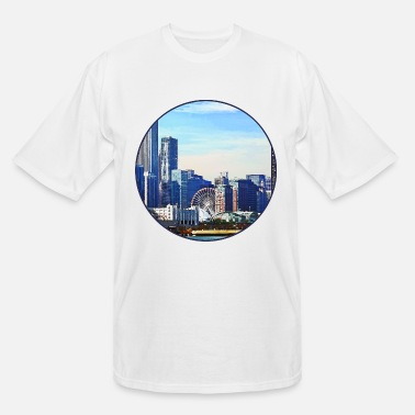 Pier Chicago IL - Chicago Skyline and Navy Pier - Men's Tall T-Shirt