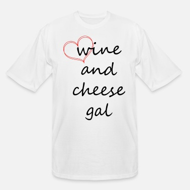 Heart Gal wine and cheese gal, red heart - Men's Tall T-Shirt