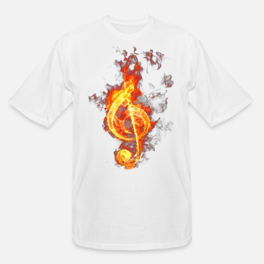 Treble Clef treble clef on fire - Men's Tall T-Shirt