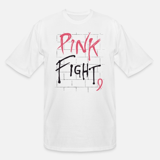 Fight T-Shirts - Breast Cancer Awareness Pink Fight Breast Cancer R - Men's Tall T-Shirt white