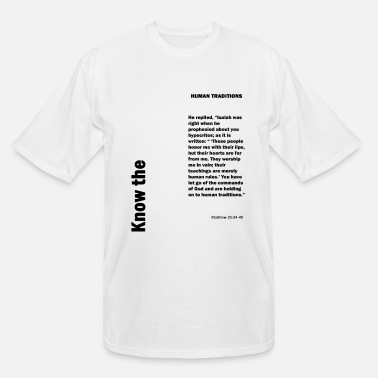 Tradition Human traditions - Men's Tall T-Shirt