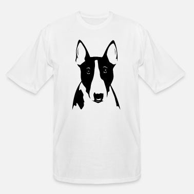 Bull Bull Terrier Cute Graphic Tee Shirt - Men's Tall T-Shirt