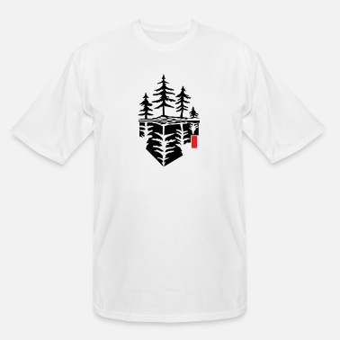 Reflection Tree reflection, forest reflection - Men's Tall T-Shirt