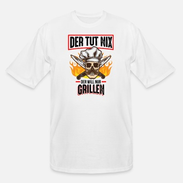 Beer He won't do anything, he just wants a barbecue - Men's Tall T-Shirt