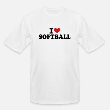 I Love Softball I love Softball - Men's Tall T-Shirt