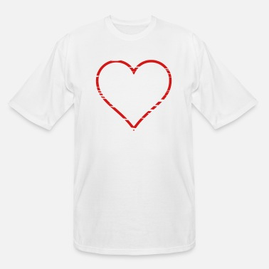 Rugged Rugged Heart - Men's Tall T-Shirt