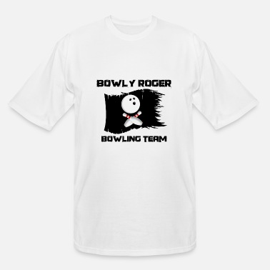 Pirate Flag Bowly rogers bowling team - Men's Tall T-Shirt