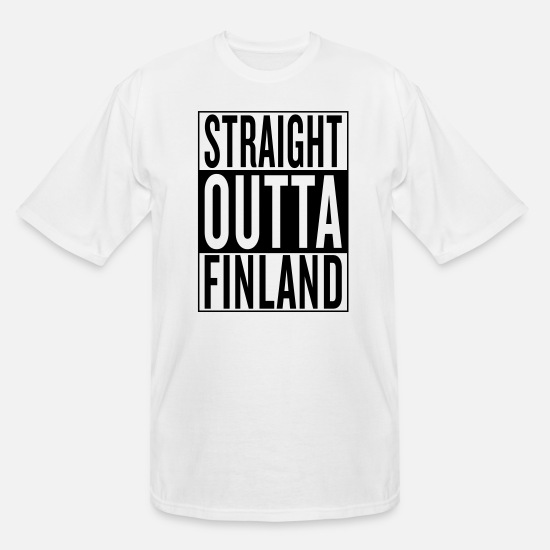 Out Of Hiphop Hip Hop Rap Black Drug Drugs T-Shirts - Finland - Men's Tall T-Shirt white