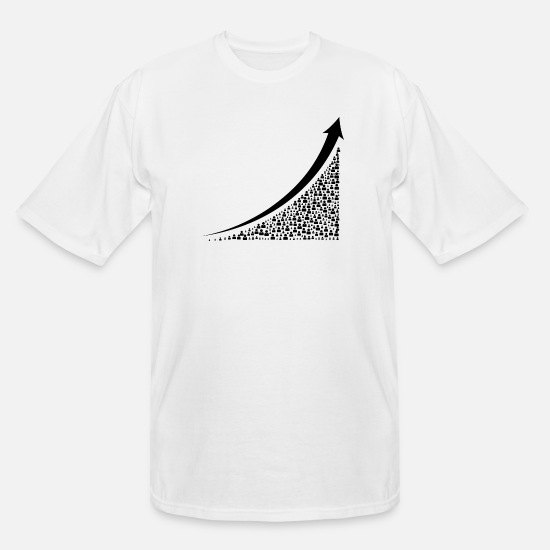 Art T-Shirts - Going Up - Men's Tall T-Shirt white