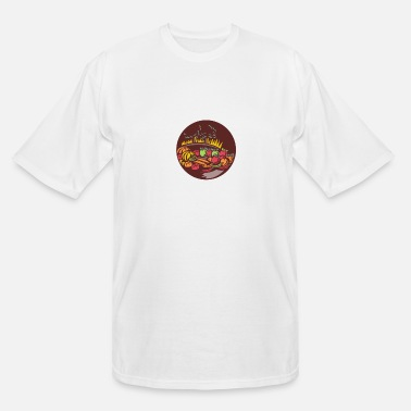 Orchard Orchard Crop Harvest Circle Woodcut - Men's Tall T-Shirt