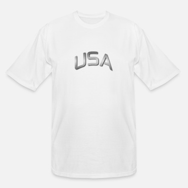 Gold USA 3D - Men's Tall T-Shirt