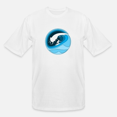 Shore surfing - Men's Tall T-Shirt