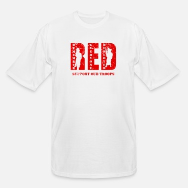 Red Friday Support Our Troops RED Friday Support Our Troops - Men's Tall T-Shirt