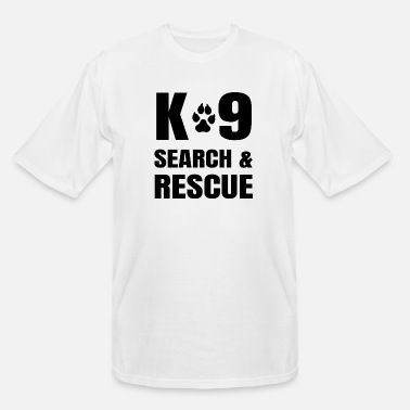 Dash K-9 Search And Rescue K9 SAR Dog Handler Unit - Men's Tall T-Shirt