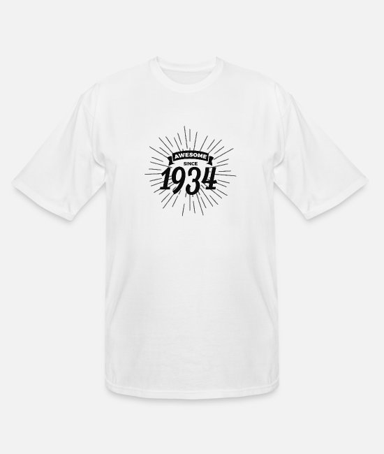 Year T-Shirts - Awesome since 1934 - Men's Tall T-Shirt white