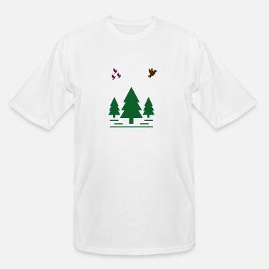 Forest Animal forest - Men's Tall T-Shirt