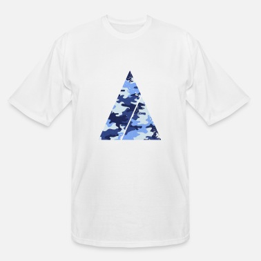 Easy Triangle camouflage pattern with horizontal stripe - Men's Tall T-Shirt