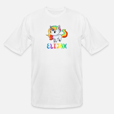 Elijah Elijah Unicorn - Men's Tall T-Shirt