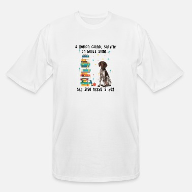 German BOOK AND GERMAN SHORTHAIRED POINTER - Men's Tall T-Shirt