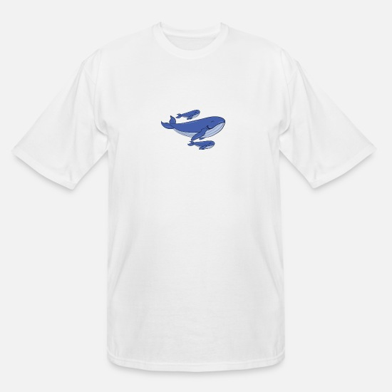 Clothing T-Shirts - Time to catch some fresh air, miss whale! - Men's Tall T-Shirt white