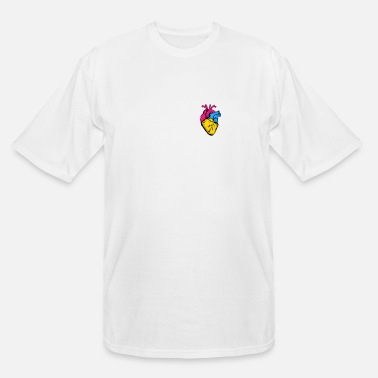 Community Pan Pride LGBTQ Retro Pansexual Heart - Men's Tall T-Shirt
