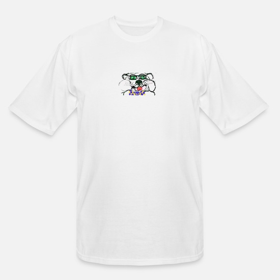 Glasses T-Shirts - bowtiebear - Men's Tall T-Shirt white