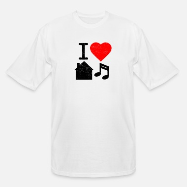 I Love House I Love House Music - Men's Tall T-Shirt