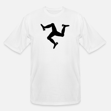 The Manx Triskelion, emblem of the Isle of Man - Men's Tall T-Shirt