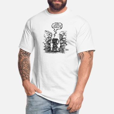 Funny Ahh crap jeep in hole - Men's Tall T-Shirt