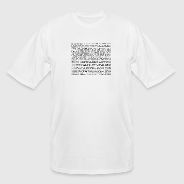 We are the virus in the system - Men's Tall T-Shirt