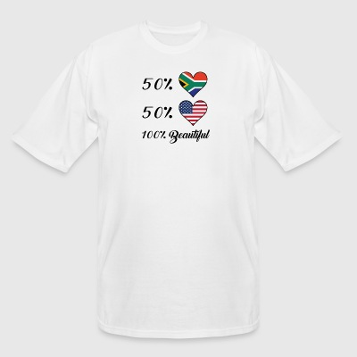 50% South African 50% American 100% Beautiful - Men's Tall T-Shirt