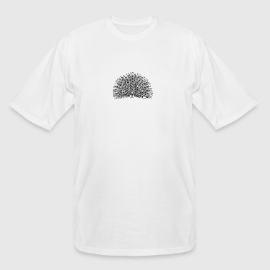 Peacock Illustration - Men's Tall T-Shirt
