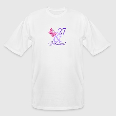 27 and Fabulous - Men's Tall T-Shirt