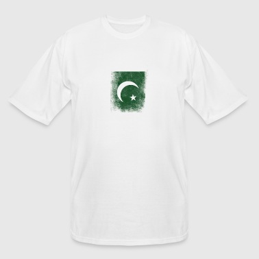 Pakistan Flag Proud Pakistan Vintage Distressed - Men's Tall T-Shirt