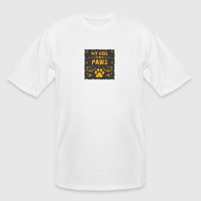 colored cats designs My kids has paws - Men's Tall T-Shirt