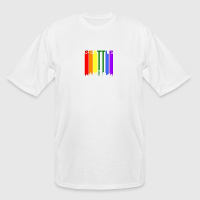 Seattle Washington Rainbow LGBT Gay Pride - Men's Tall T-Shirt
