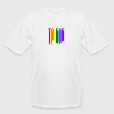 Toledo Ohio Rainbow Skyline LGBT Gay Pride - Men's Tall T-Shirt