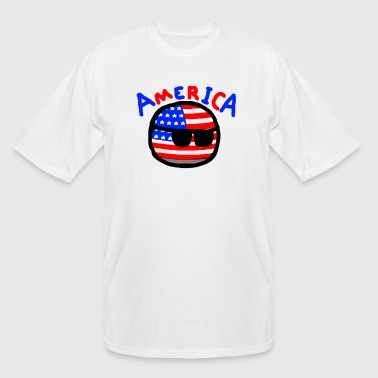 Americaball - Men's Tall T-Shirt